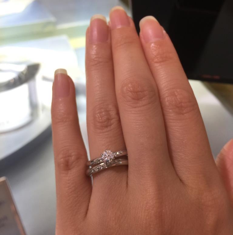 婚約指輪(エンゲージリング)結婚指輪(マリッジリング)重ね付け_3