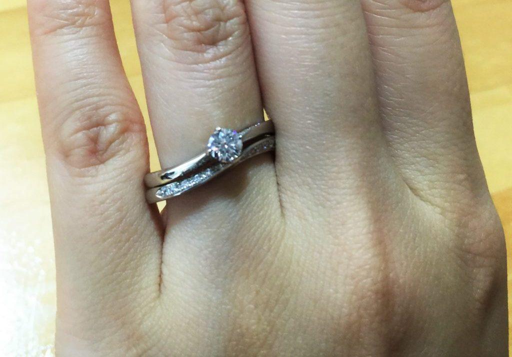 婚約指輪_宵の明星_結婚指輪_星あかり