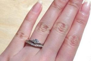 婚約指輪重ね付け
