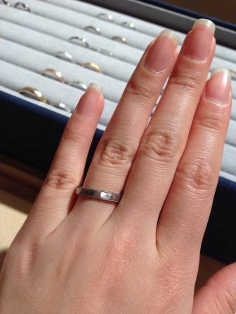 結婚指輪_槌目_プラチナ