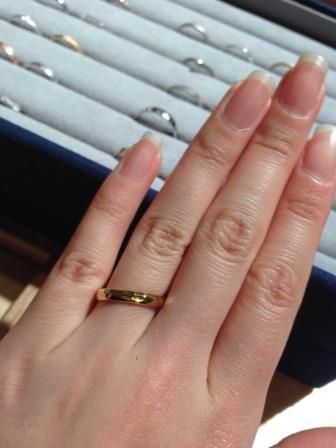 結婚指輪_槌目_ゴールド