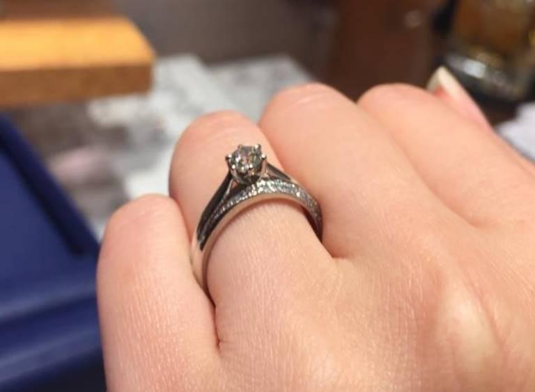 銀座ダイヤモンドシライシ重ね付け