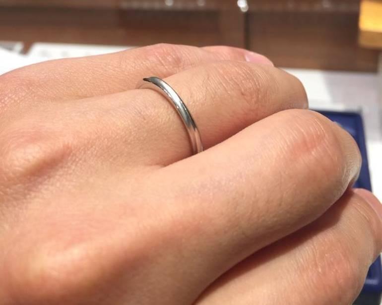 メンズ結婚指輪つや消し_銀座ダイヤモンドシライシ