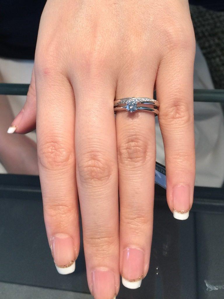 エクセルコダイヤモンド_婚約指輪_マリアージュオアゾー
