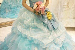 カラードレス2水色