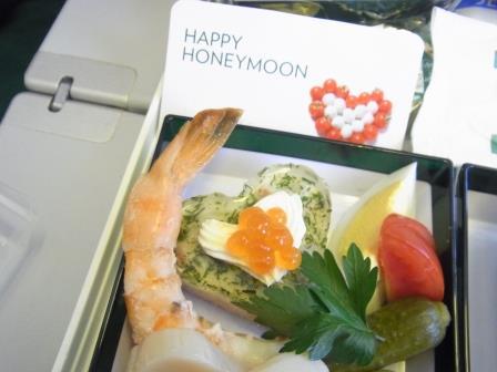 ハネムーン イタリア 機内食