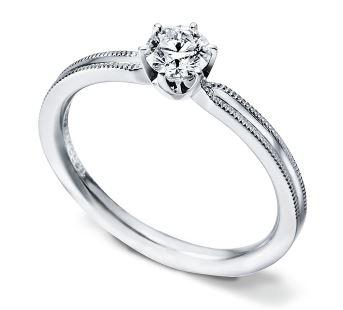 婚約指輪 ミル打ち