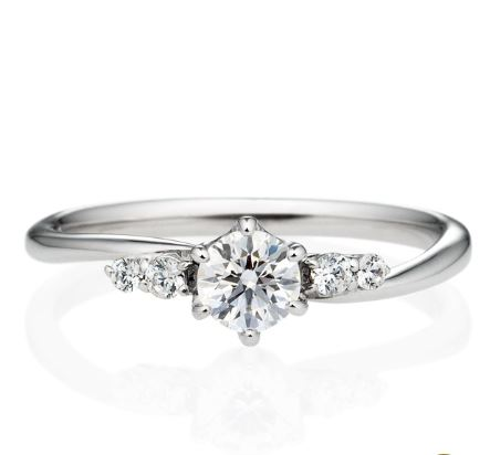婚約指輪 メレ